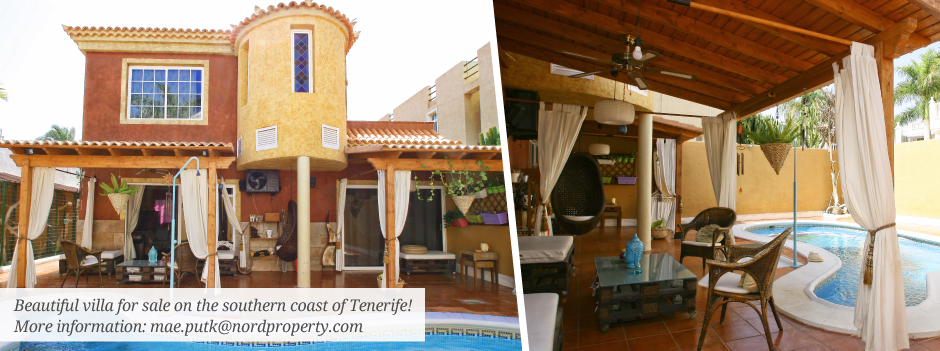 Beautiful villa on southern coast of tenerife  Mae Putk